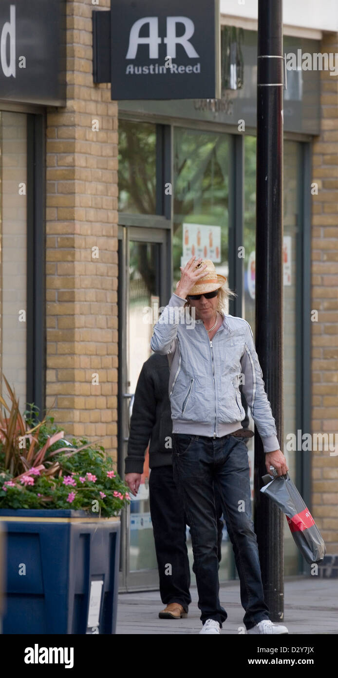 Actor Rhys Ifans out and about in Cardiff Bay, having just separated with actress Sienna Miller. - Stock Image