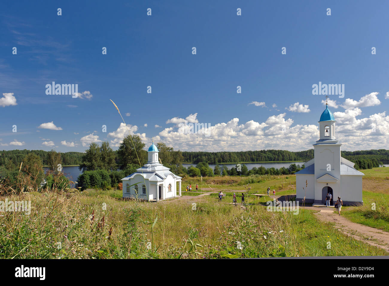 Pokrovo-Tervenichesky convent in the Leningrad region - Stock Image