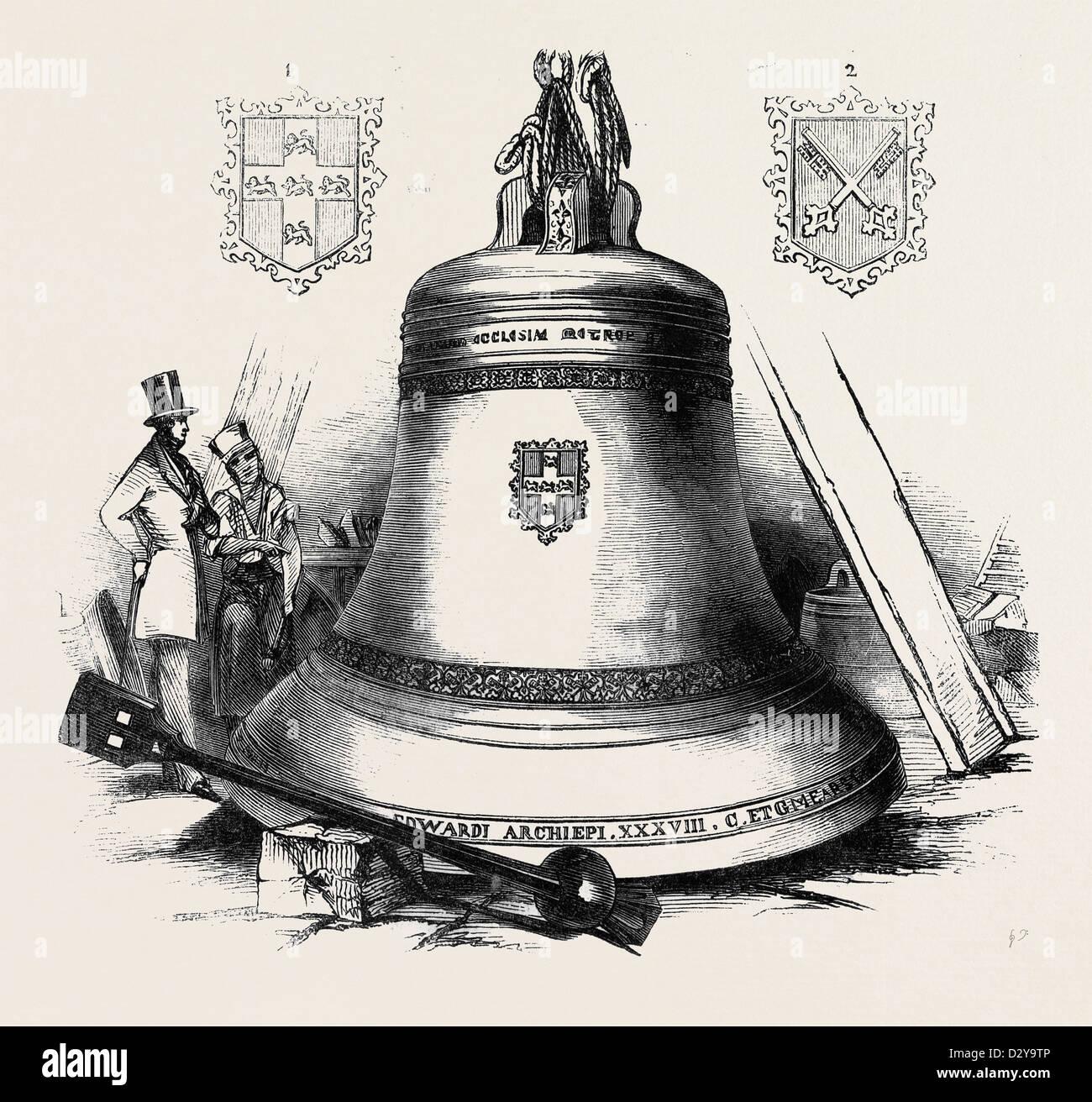 THE MONSTER BELL FOR YORK MINSTER. - Stock Image