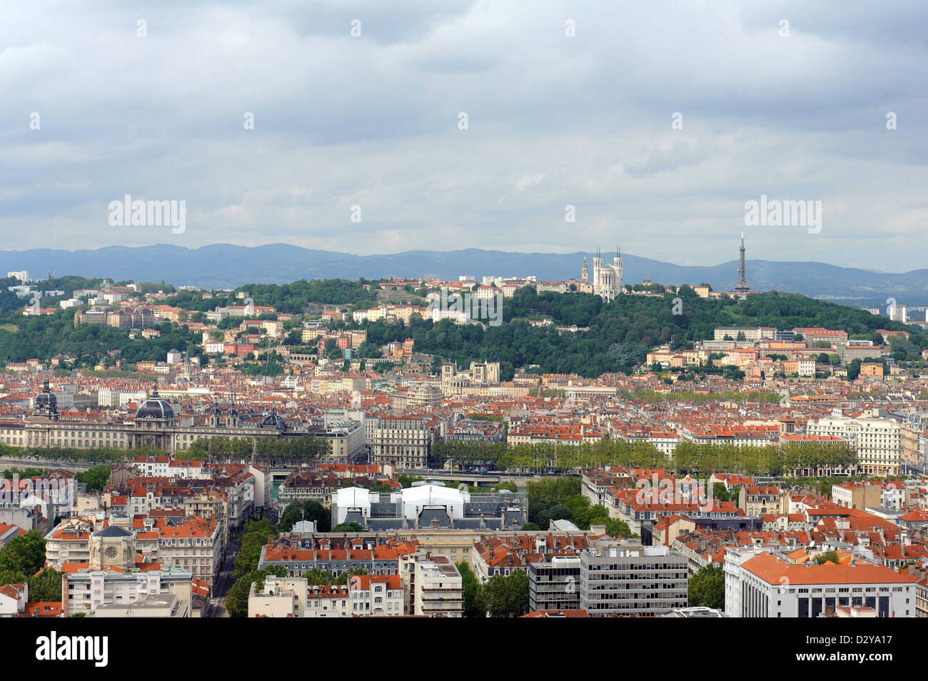 View of Lyon, France, Europe - Stock Image