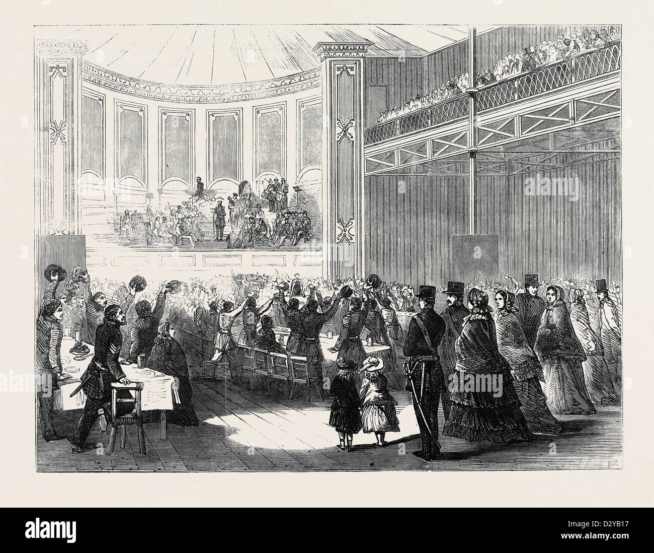 DINNER TO THE 68TH REGIMENT IN THE CRYSTAL PALACE - Stock Image