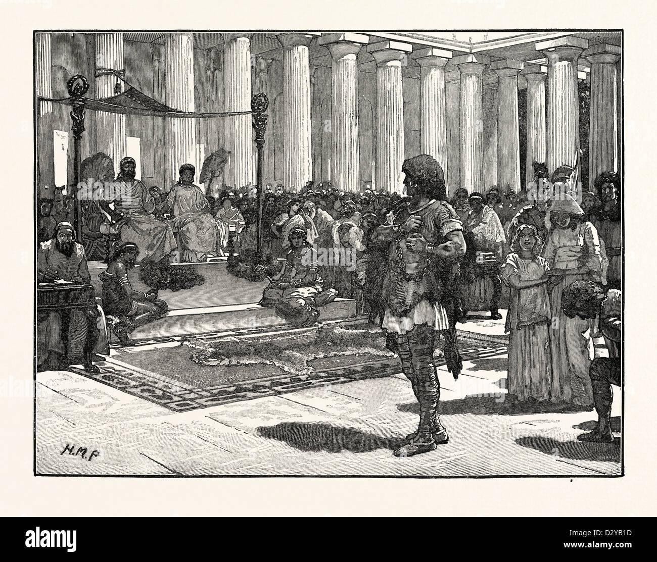 CARACTACUS BEFORE CLAUDIUS - Stock Image