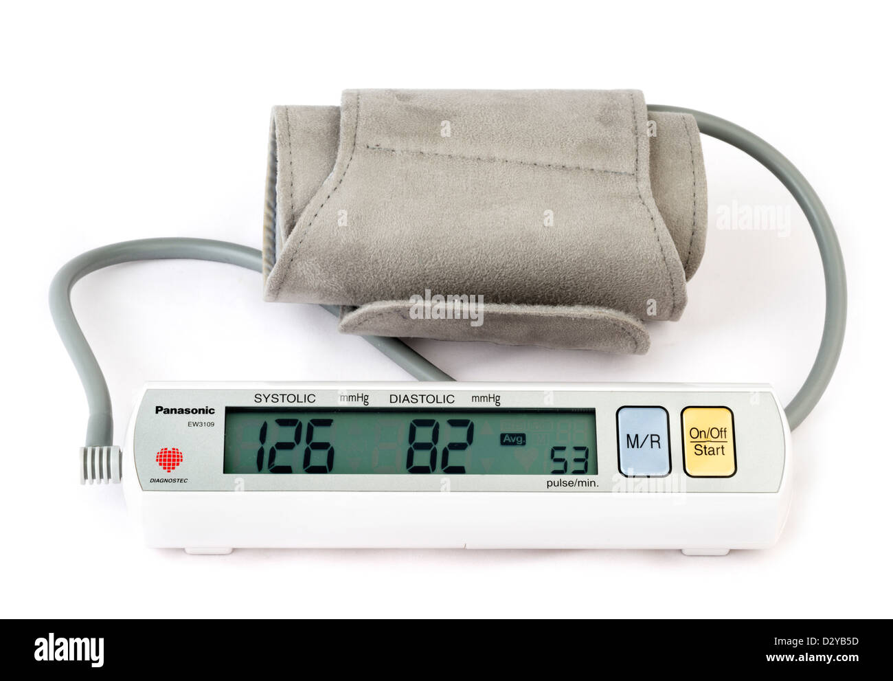 Panasonic battery operated home blood pressure monitor - Stock Image