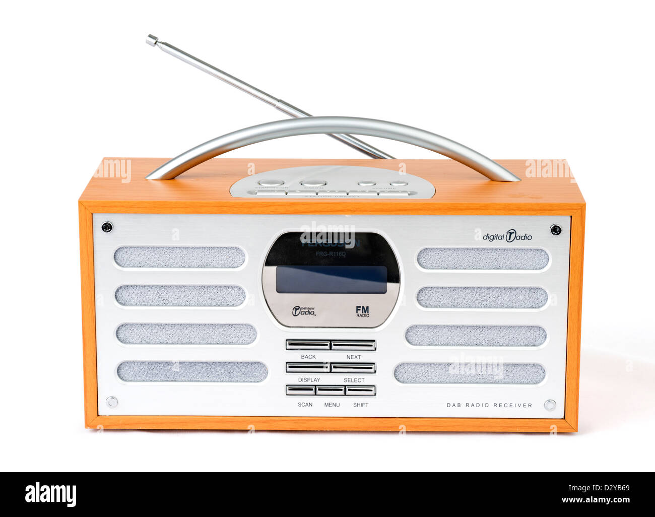 DAB digital radio, UK - Stock Image