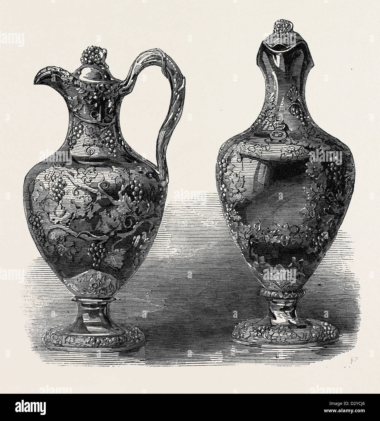 CLARET JUGS FOR THE 11TH REGIMENT - Stock Image