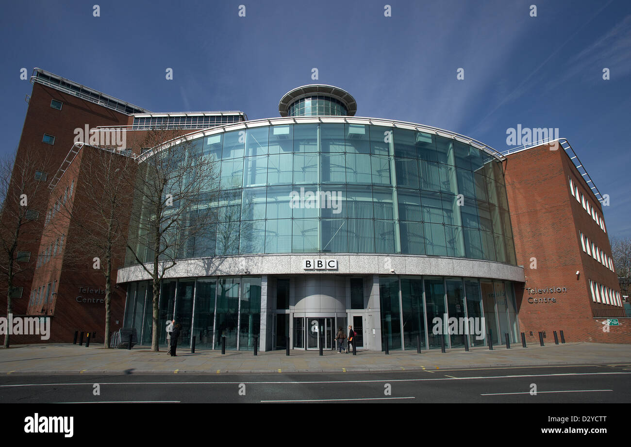 London, United Kingdom, the BBC broadcast center for the television programs - Stock Image
