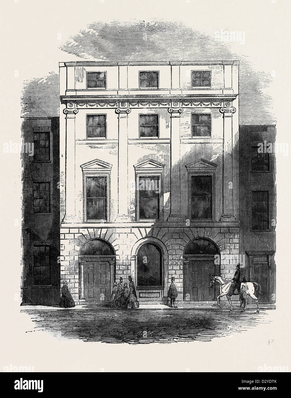 PREMISES OCCUPIED BY THE ARCHITECTURAL SOCIETIES OF LONDON CONDUIT STREET - Stock Image