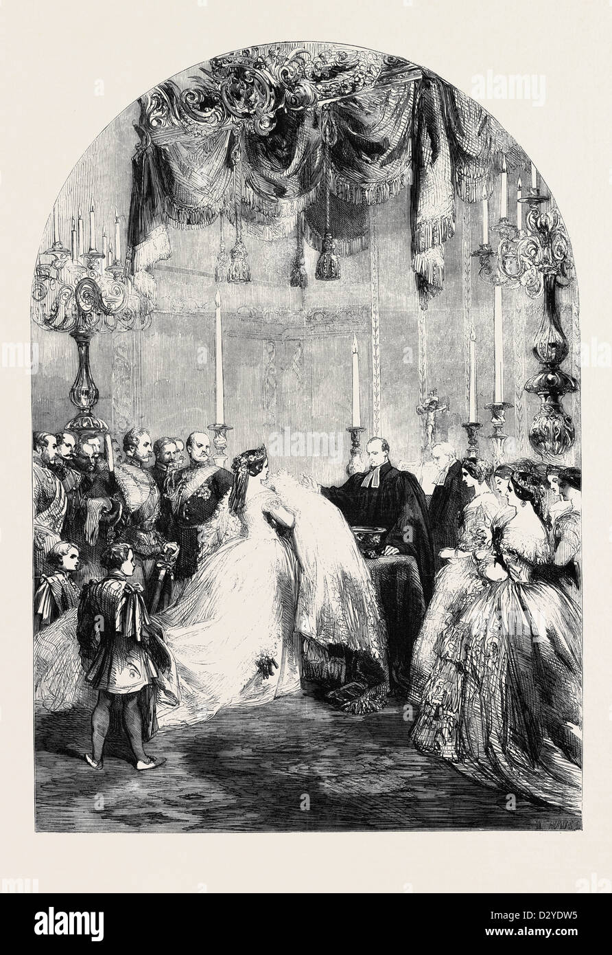 BAPTISM OF THE INFANT PRINCE FREDERICK WILLIAM VICTOR ALBERT AT BERLIN ON THE 5TH INST. - Stock Image