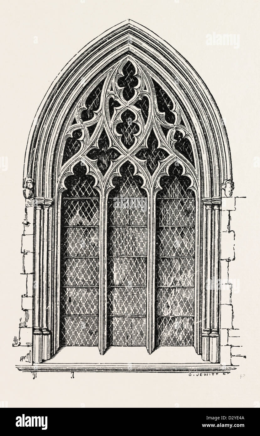 WINDOW FROM ST. MARY'S BEVERLEY - Stock Image