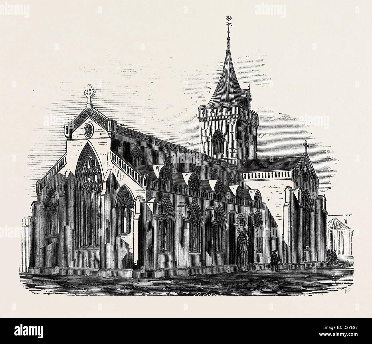 THE CHURCH OF ST. JOHN THE BAPTIST PERTH. - Stock Image