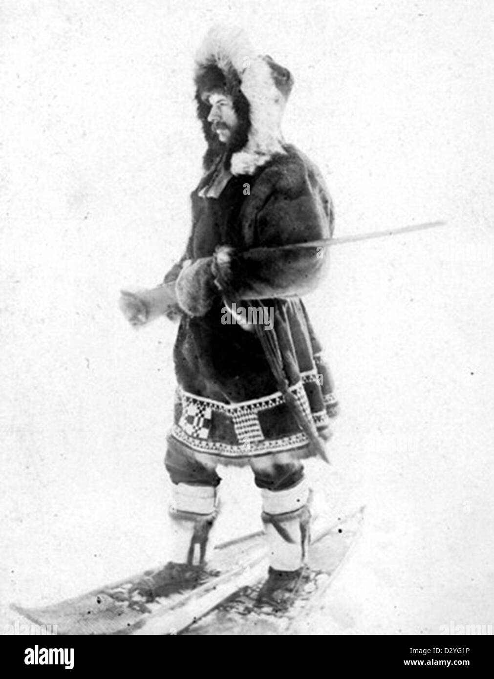 Edward William Nelson, US naturalist, in Alaska - Stock Image