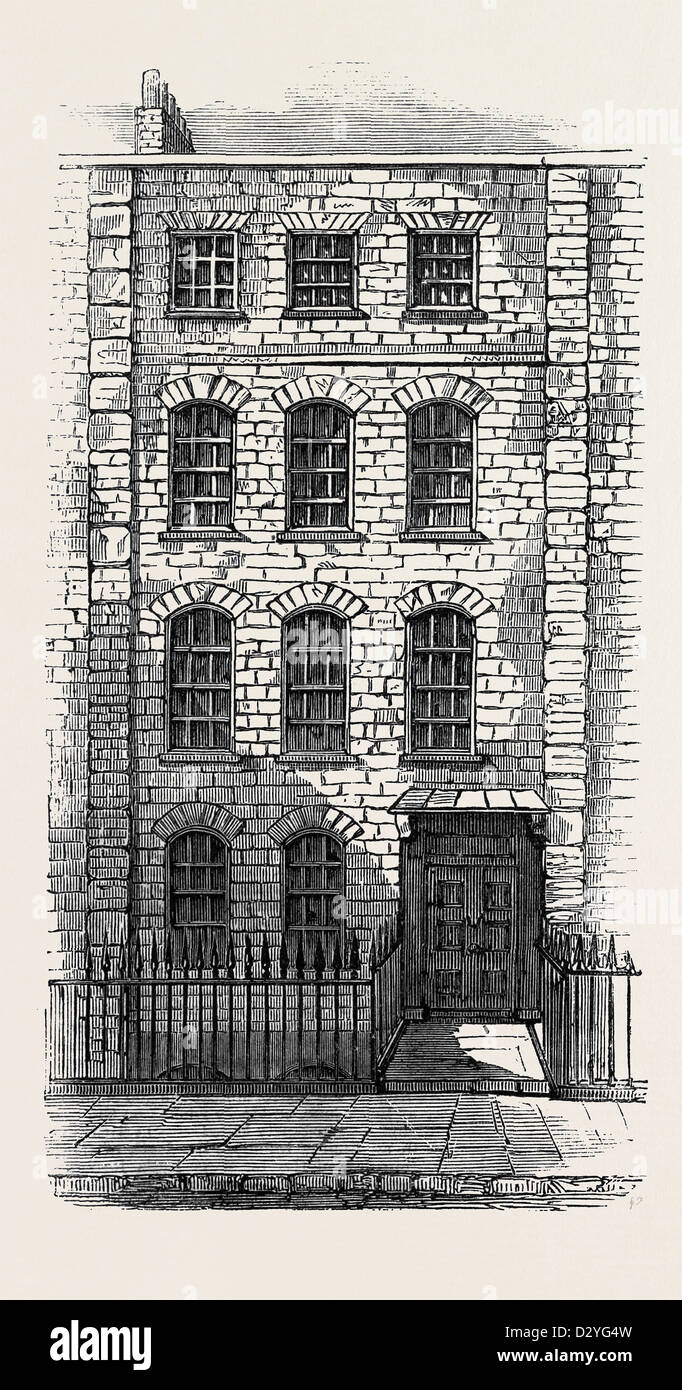 HOUSE IN WHICH HANDEL LIVED 57 BROOKE STREET LONDON - Stock Image