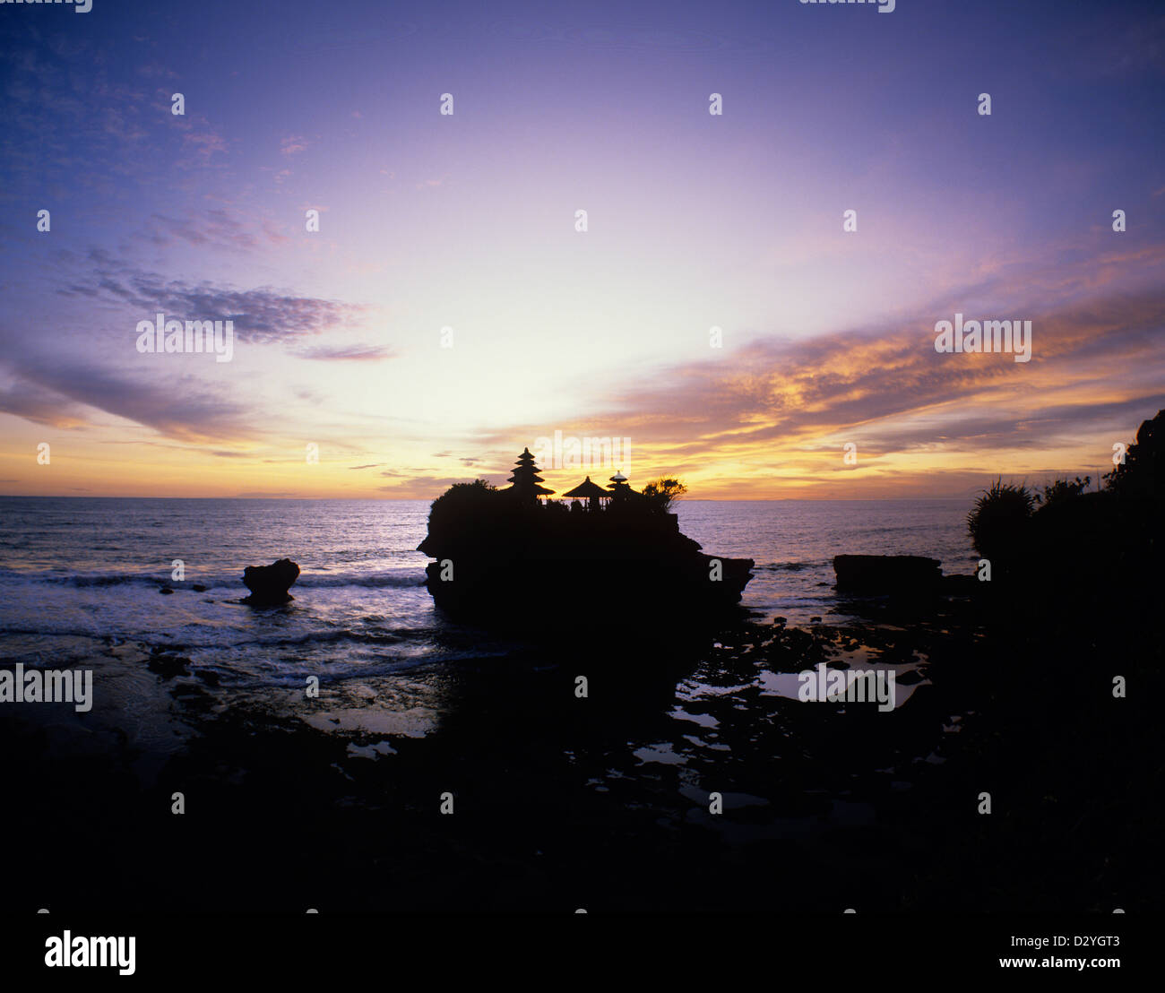 Indonesia, Bali, Tanah Lot; Temple in the Sea - Stock Image