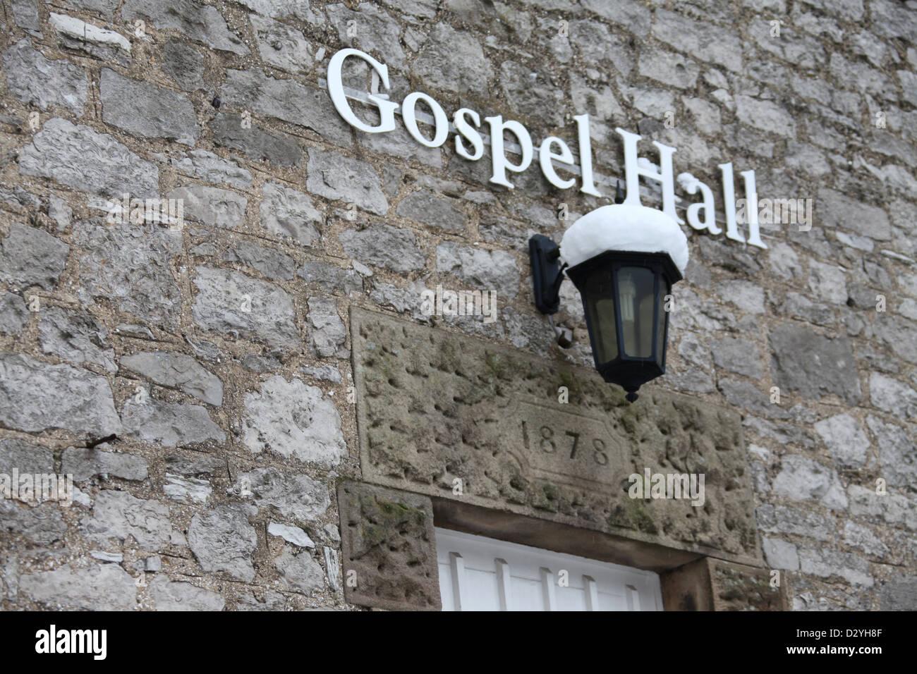 Gospel Hall in Bakewell dated 1878 - Stock Image