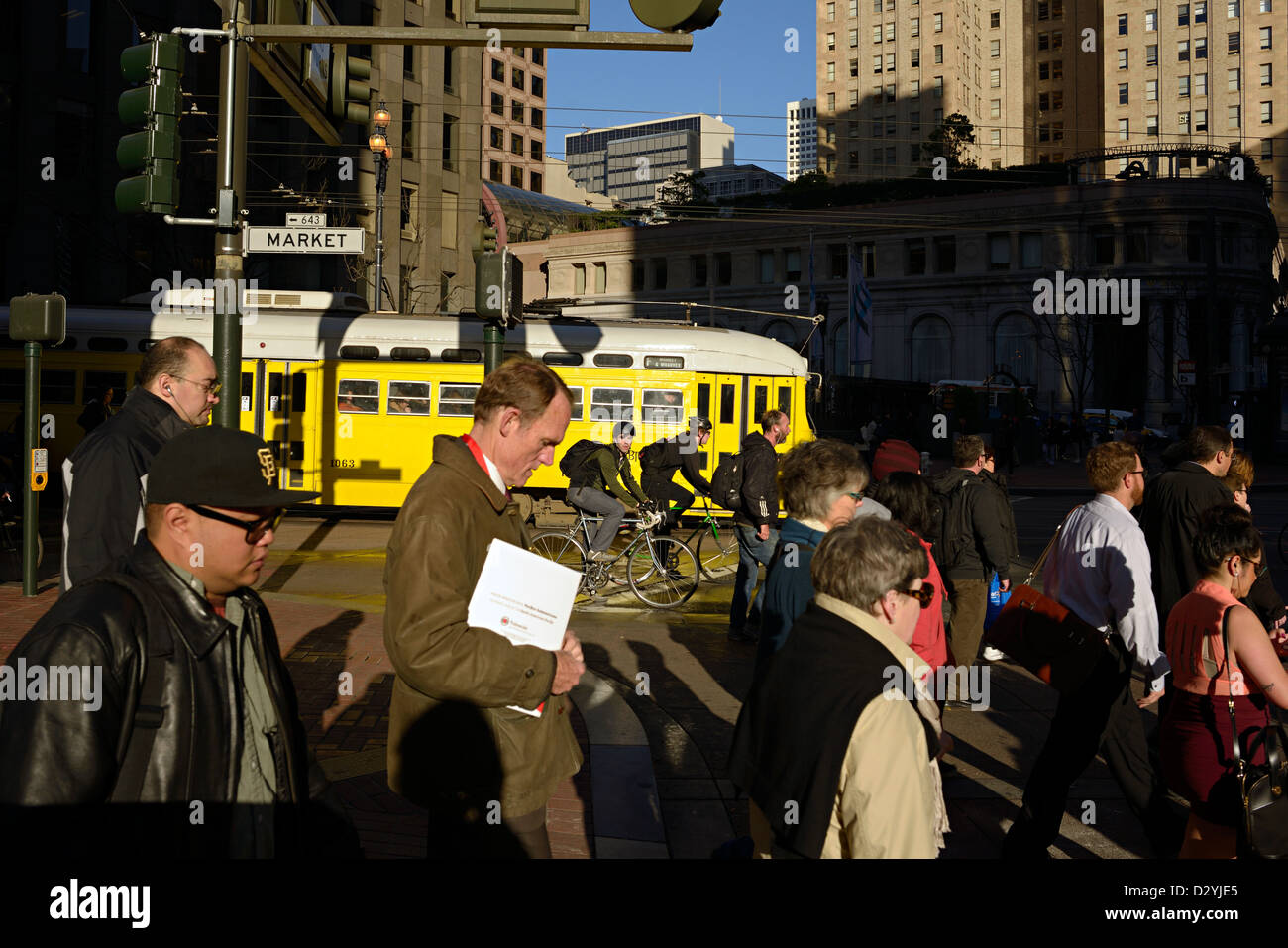 san francisco morning commuters - Stock Image