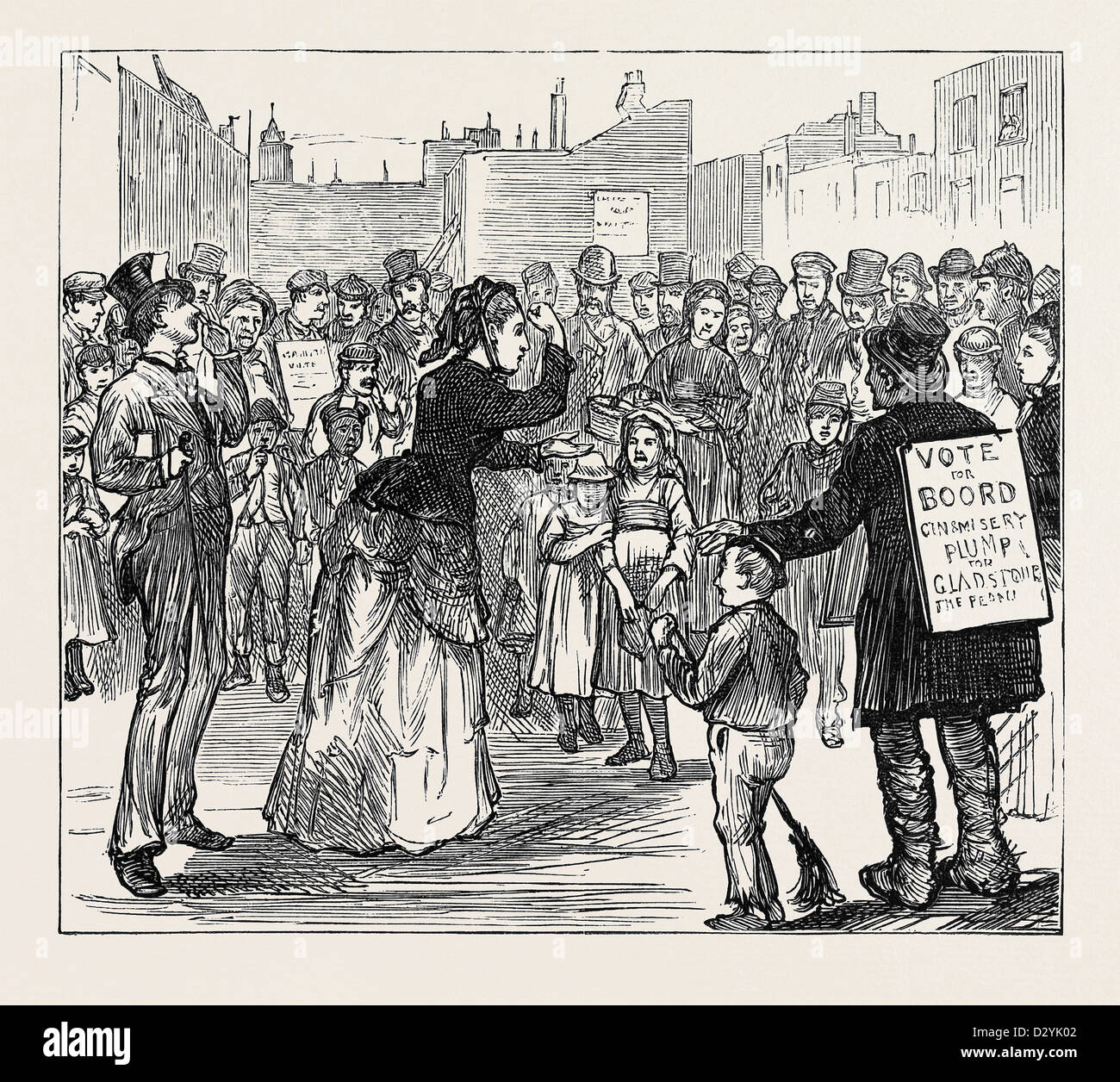 METROPOLITAN BOROUGHS ELECTION: WOMAN'S RIGHTS LONDON 1874 - Stock Image