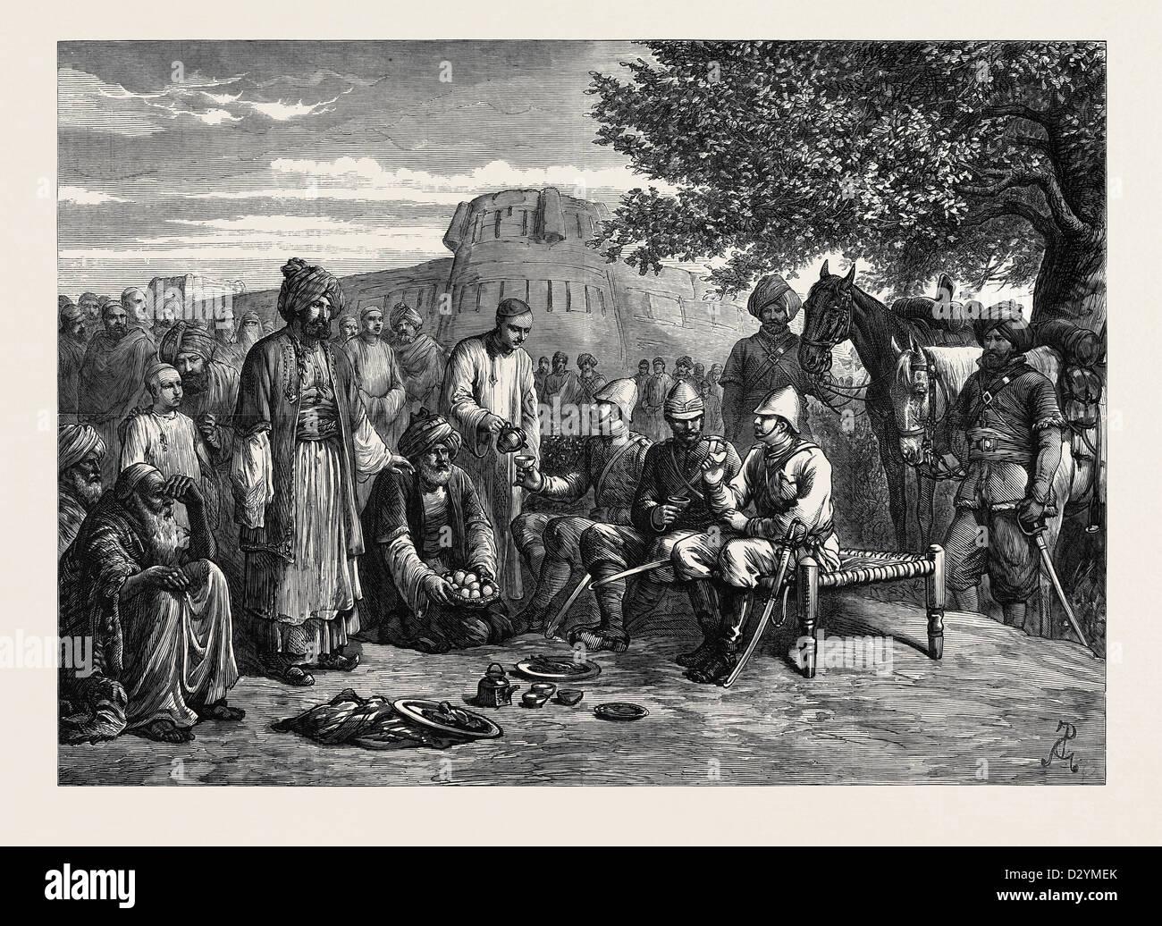 AFGHAN HOSPITALITY 1879 - Stock Image
