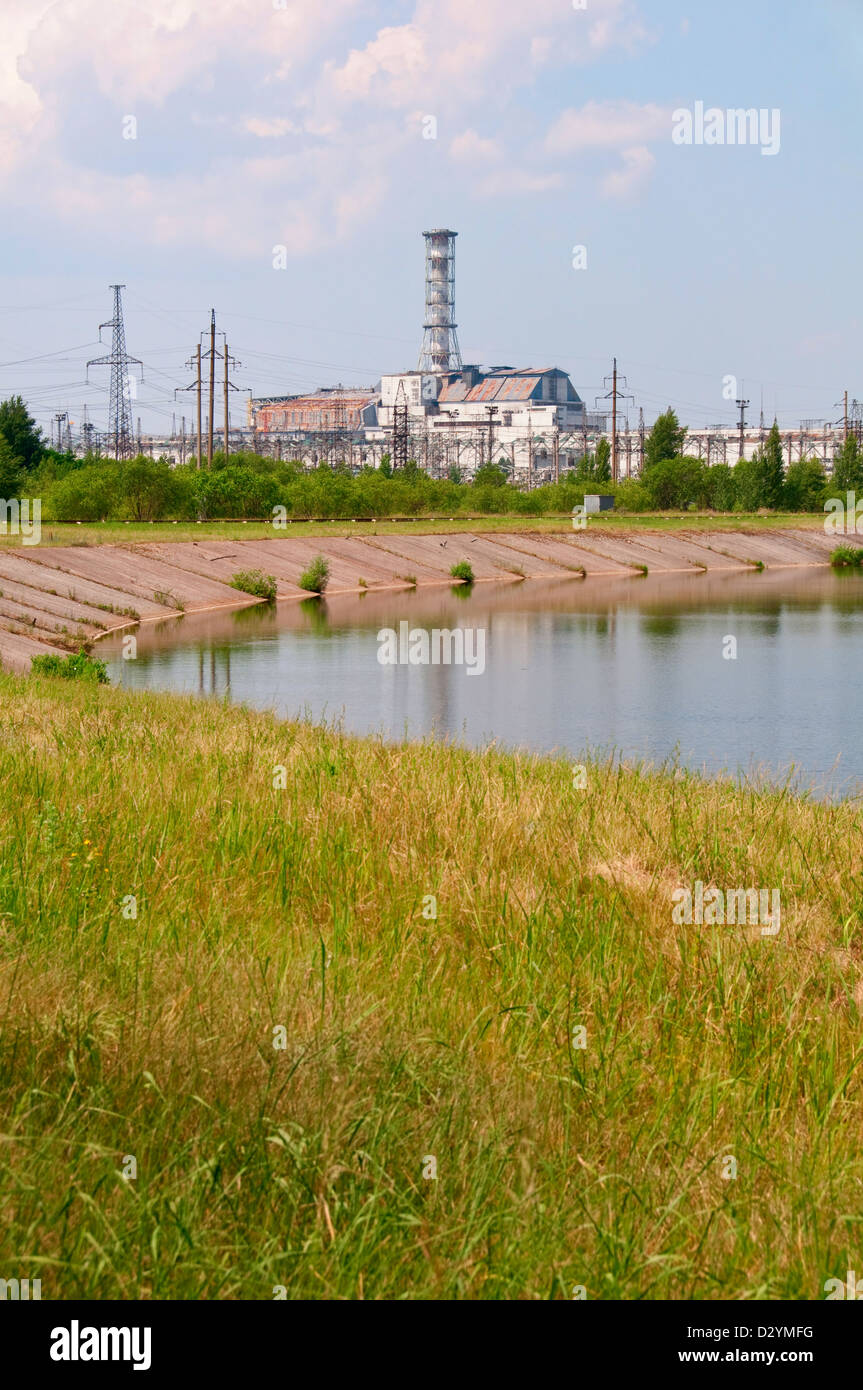 Chernobyl atomic nuclear power station in Ukraine - Stock Image