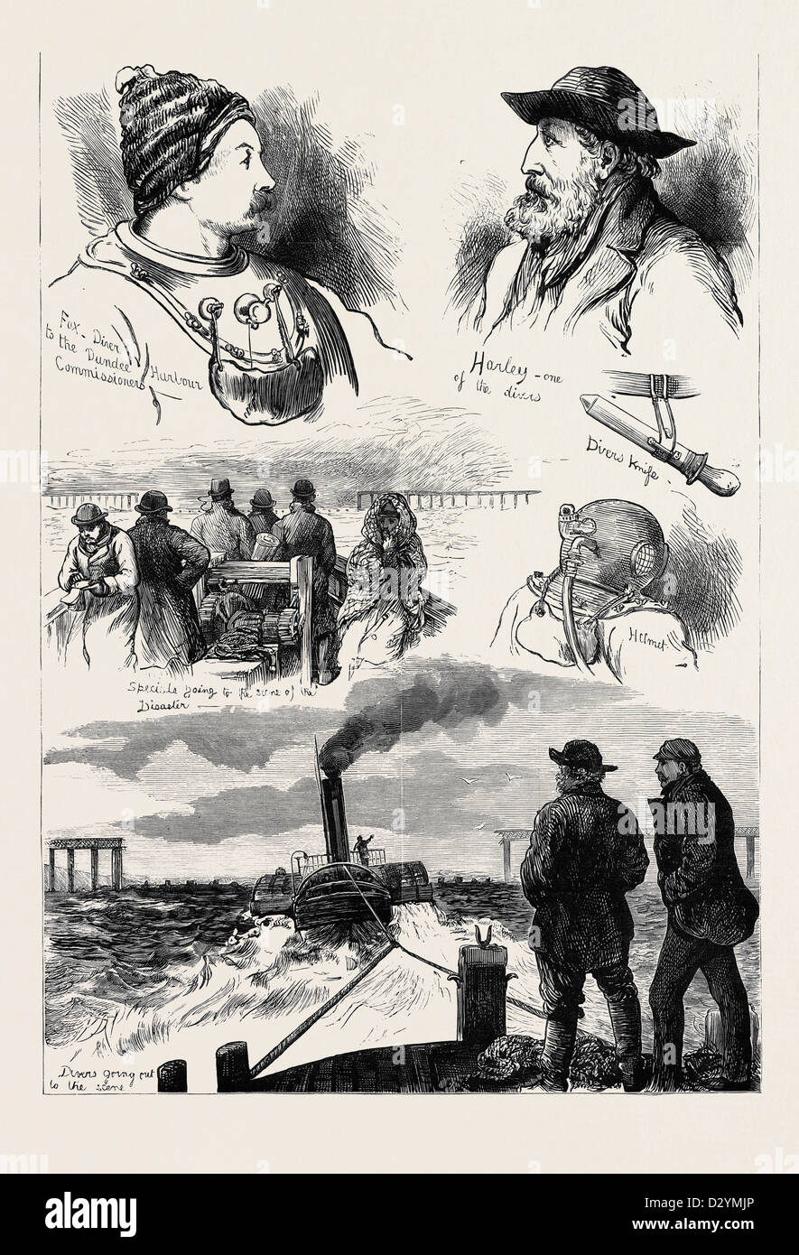 THE TAY BRIDGE DISASTER 1880 - Stock Image