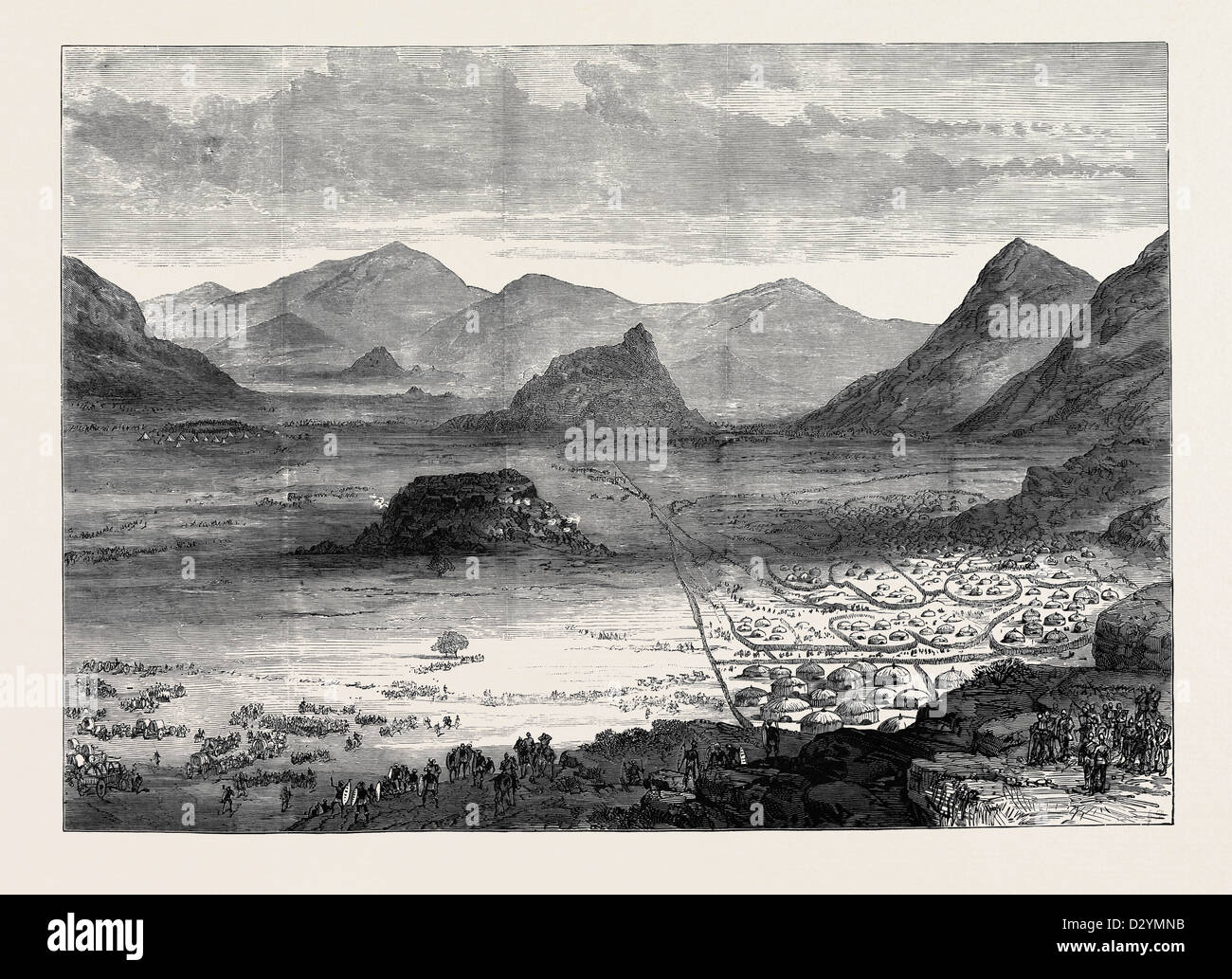 SECOKUNI'S TOWN IN THE TRANSVAAL FROM THE HEIGHTS OCCUPIED BY THE 94TH REGIMENT NOVEMBER 28 1879 - Stock Image