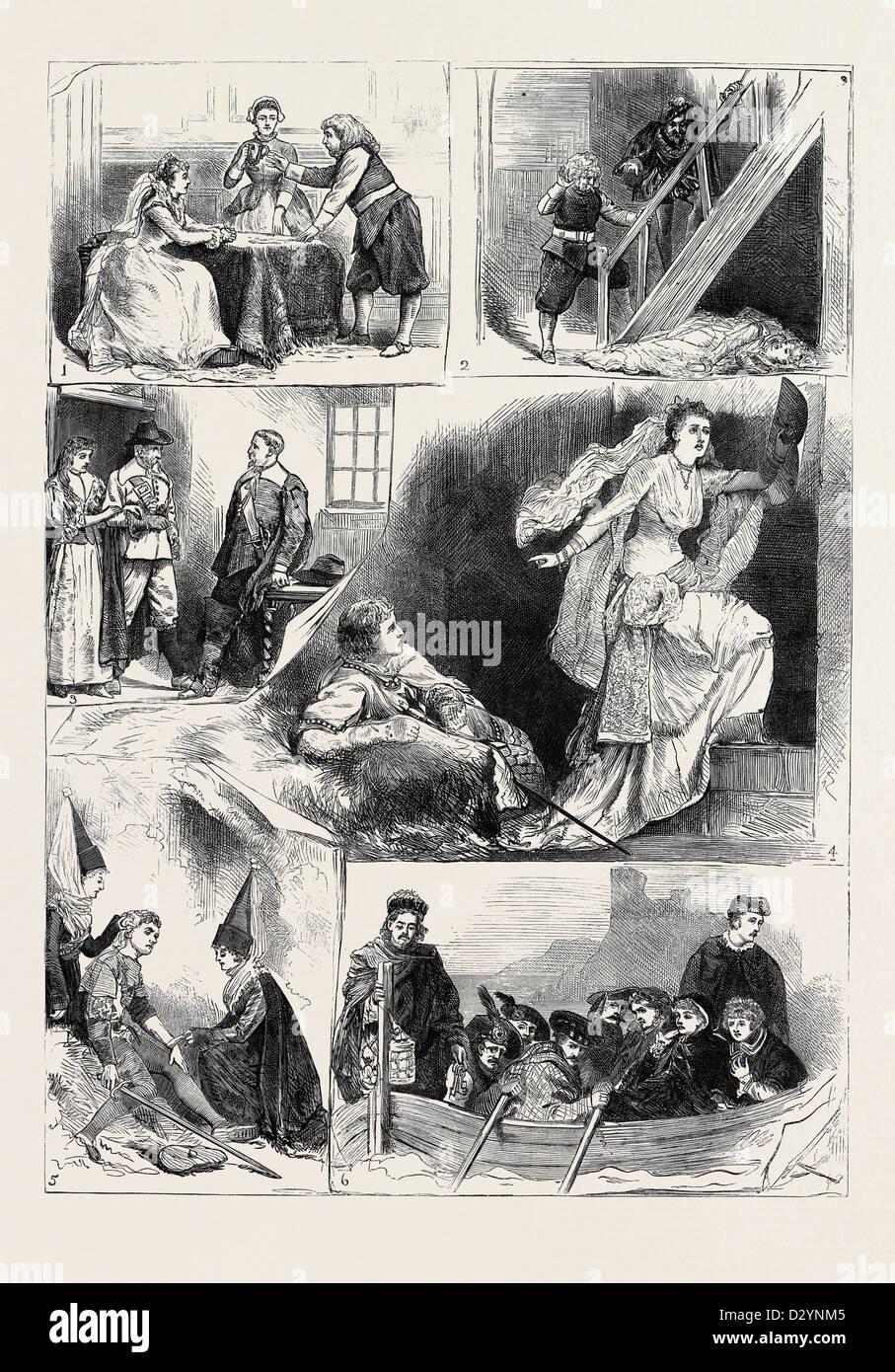 TABLEAUX VIVANTS FROM SIR WALTER SCOTT'S NOVELS AT CROMWELL HOUSE SOUTH KENSINGTON LONDON - Stock Image