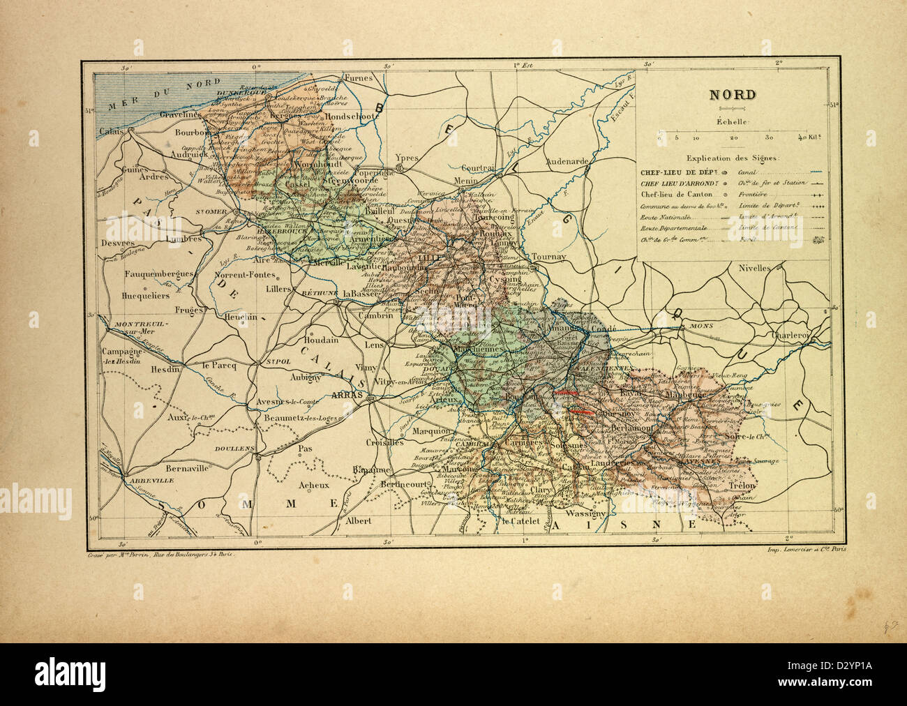 Map Of North West France.Map Of The North West Of France Stock Photo 53470406 Alamy
