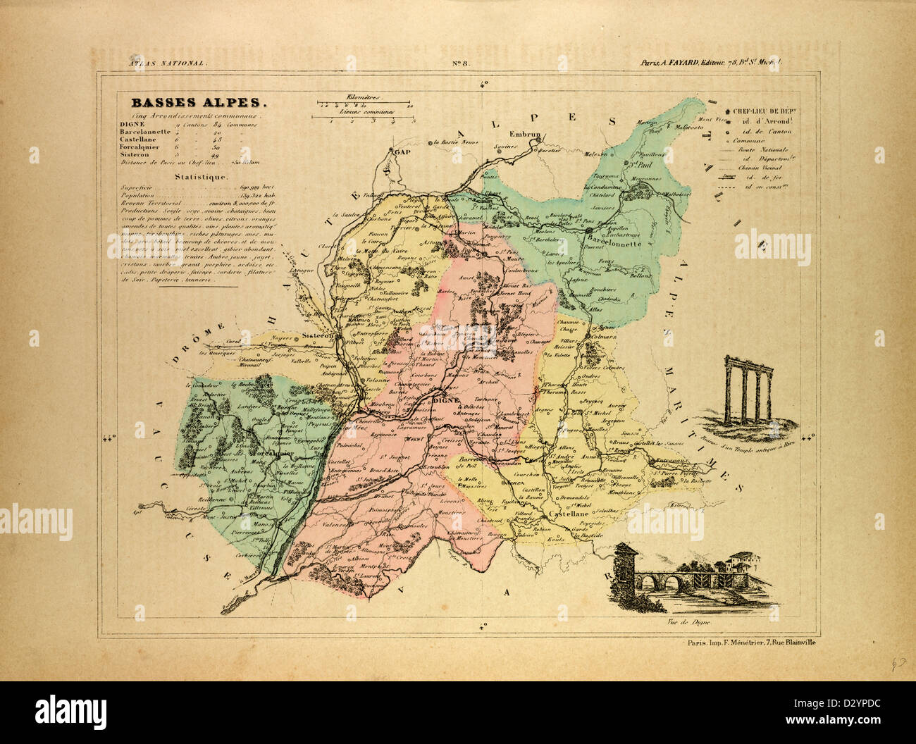 Sisteron France Map.Map Basses Alpes France Stock Photos Map Basses Alpes France Stock