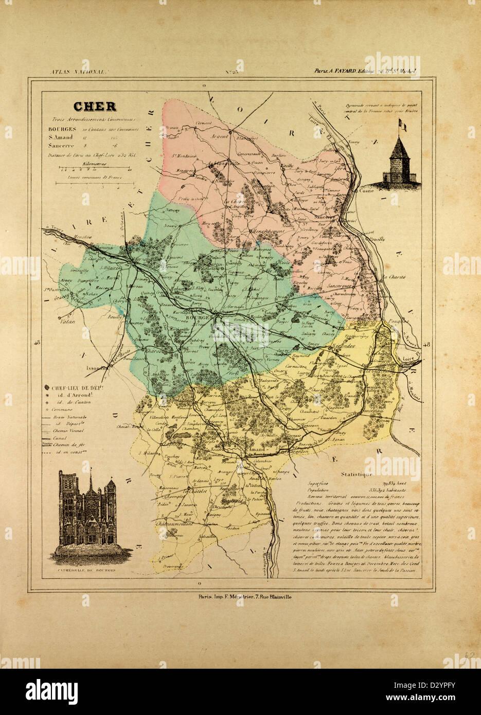 Sancerre France Map.Map Of Cher France Stock Photo 53470815 Alamy