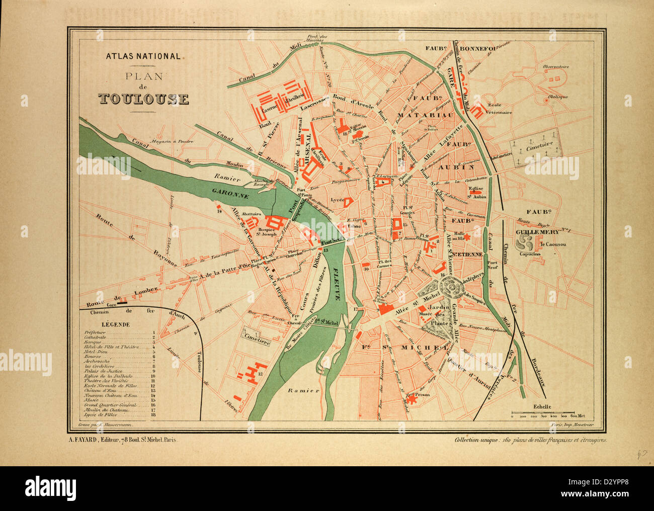 Map Of France Toulouse.Map Of Toulouse France Stock Photo 53470992 Alamy