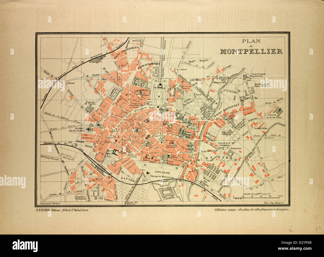 Montpellier On Map Of France.Map Of Montpellier France Stock Photo 53471107 Alamy