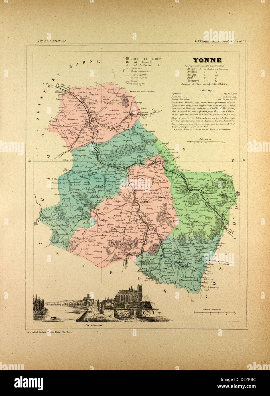 Map Of Yonne France.Map Of Yonne France Stock Photo 53471472 Alamy