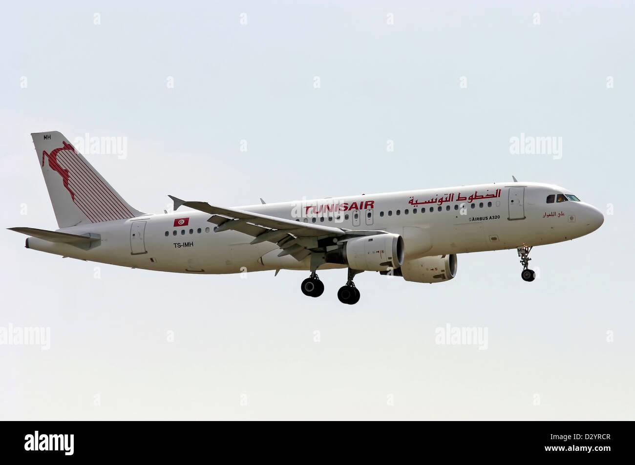 Tunisair, Airbus A320 - Stock Image