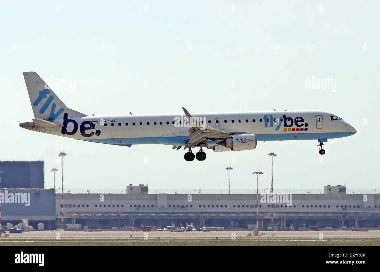 Flybe, Embraer ERJ-195LR - Stock Image