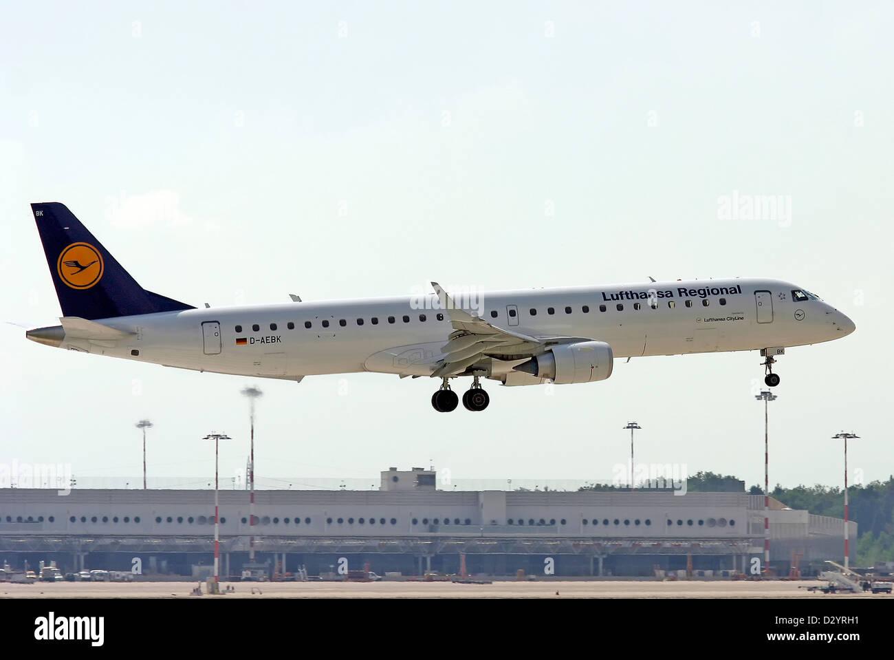 Lufthansa Regional, Embraer ERJ190-200LR - Stock Image