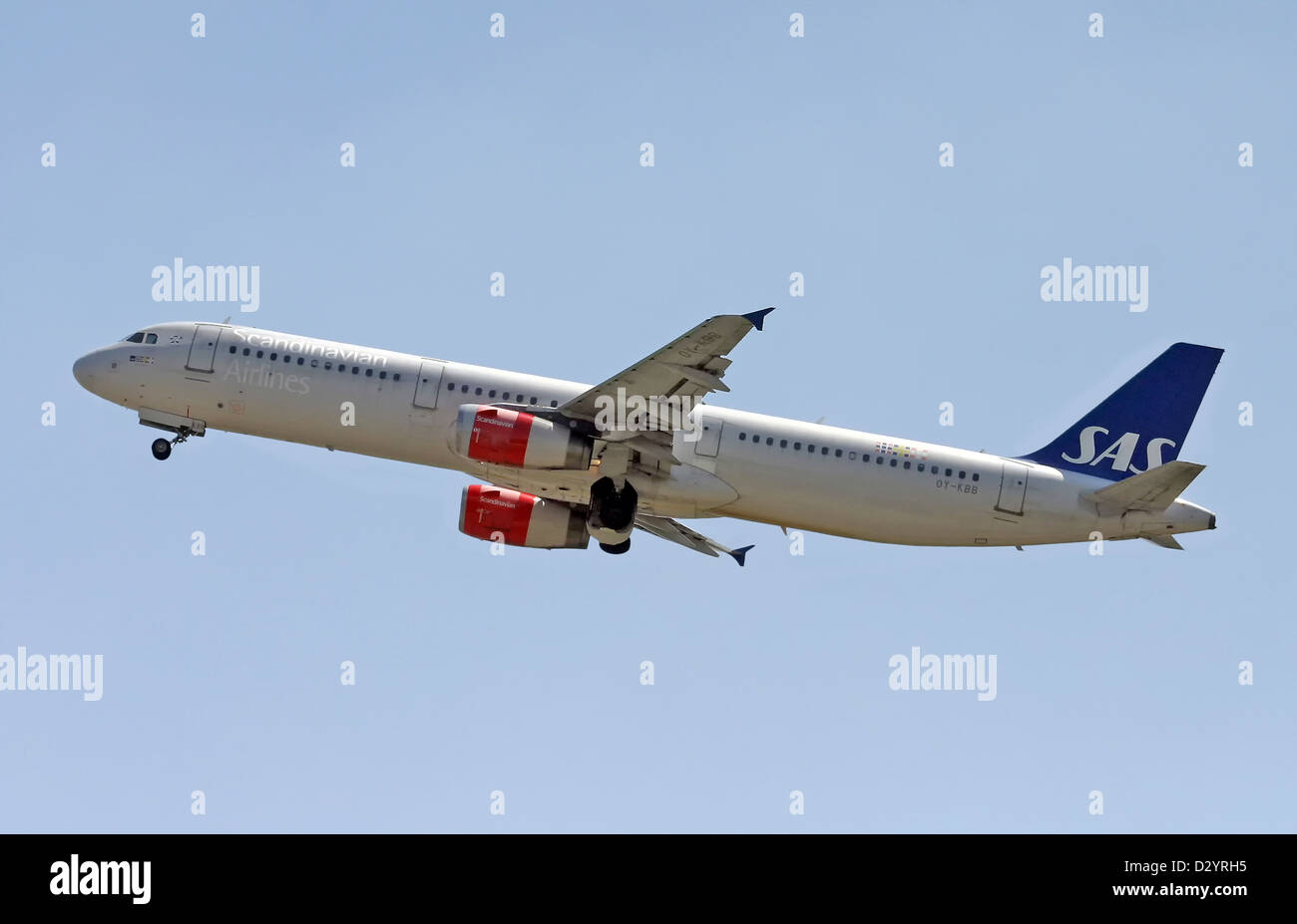 SAS - Scandinavian Airlines, Airbus A321 - Stock Image
