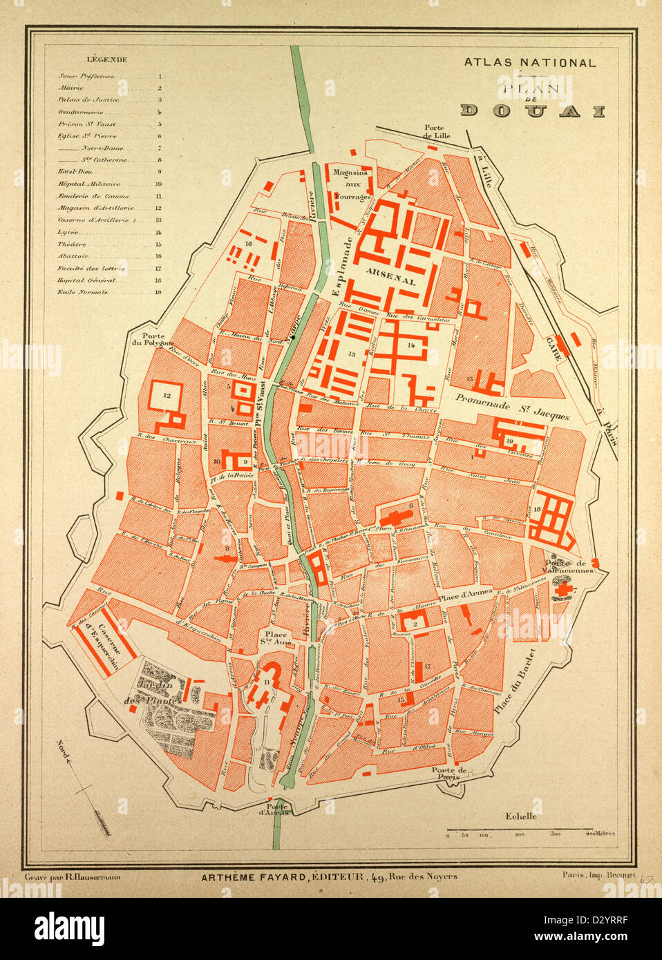 MAP OF DOUAI FRANCE Stock Photo Alamy - Rue france map