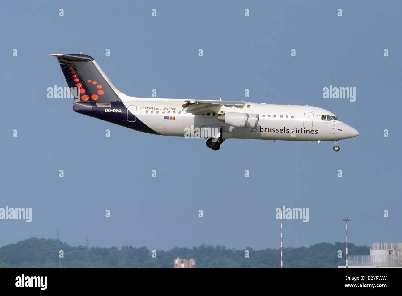 Brussels Airlines, Aerospace BAE 146-300 Avro RJ100 - Stock Image