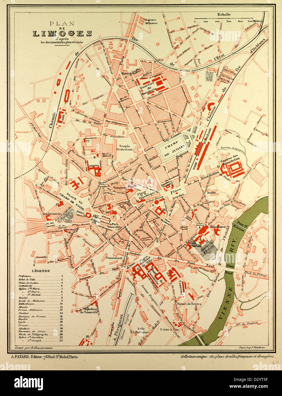 MAP OF LIMOGES FRANCE Stock Photo Alamy - Limoges france map