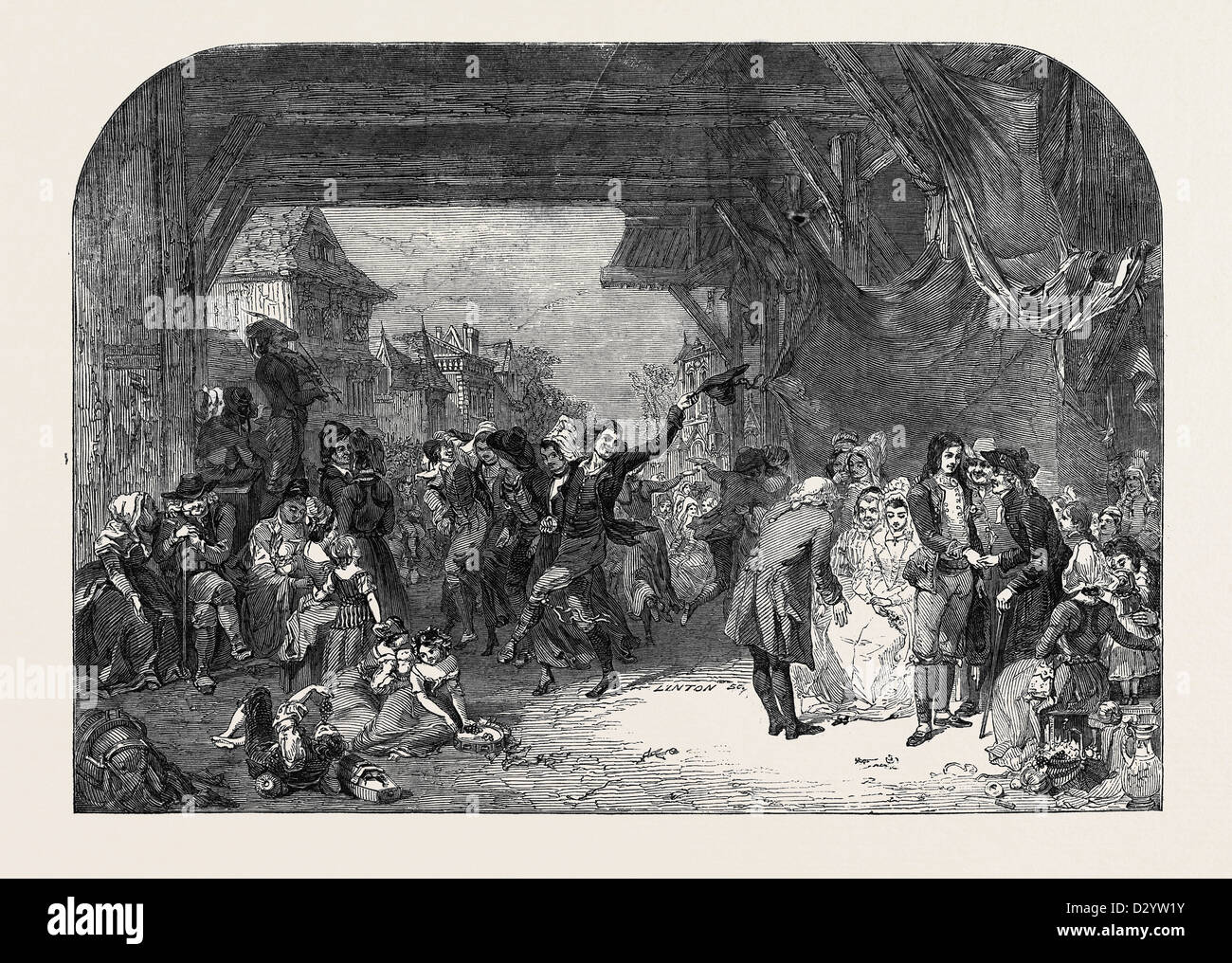 LA FETE DE MARIAGE. PAINTED BY GOODALL - Stock Image