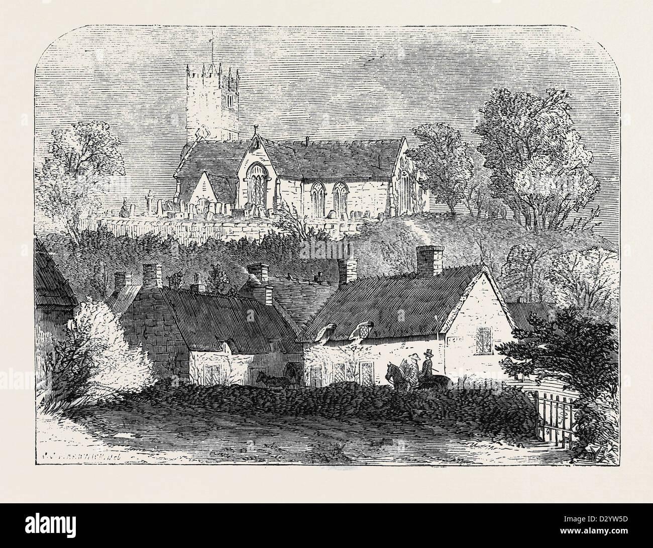 GODSHILL CRURCH ISLE OF WIGHT - Stock Image