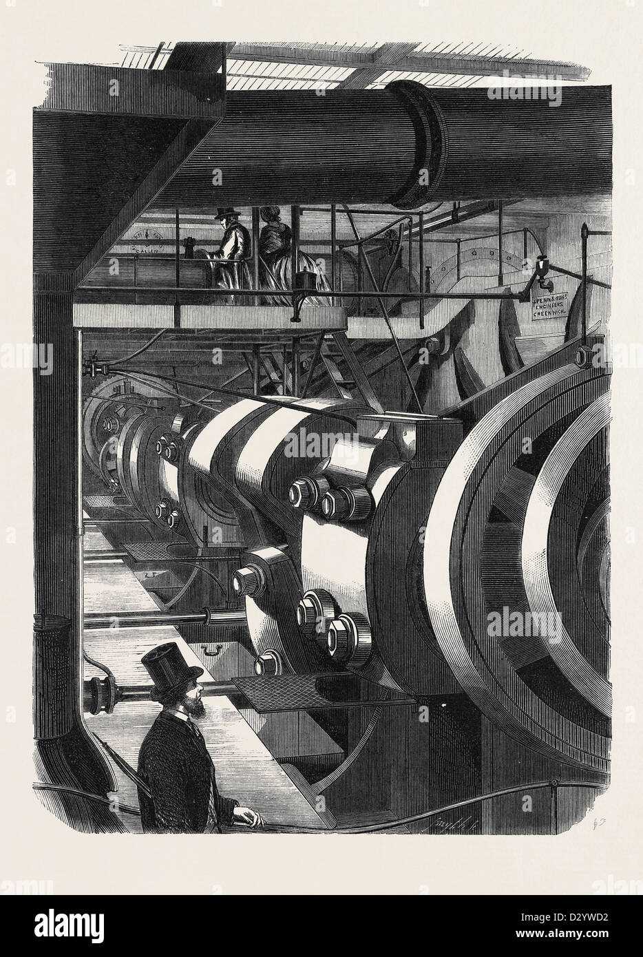 THE ENGINES OF H.M. STEAMFRIGATE WARRIOR - Stock Image