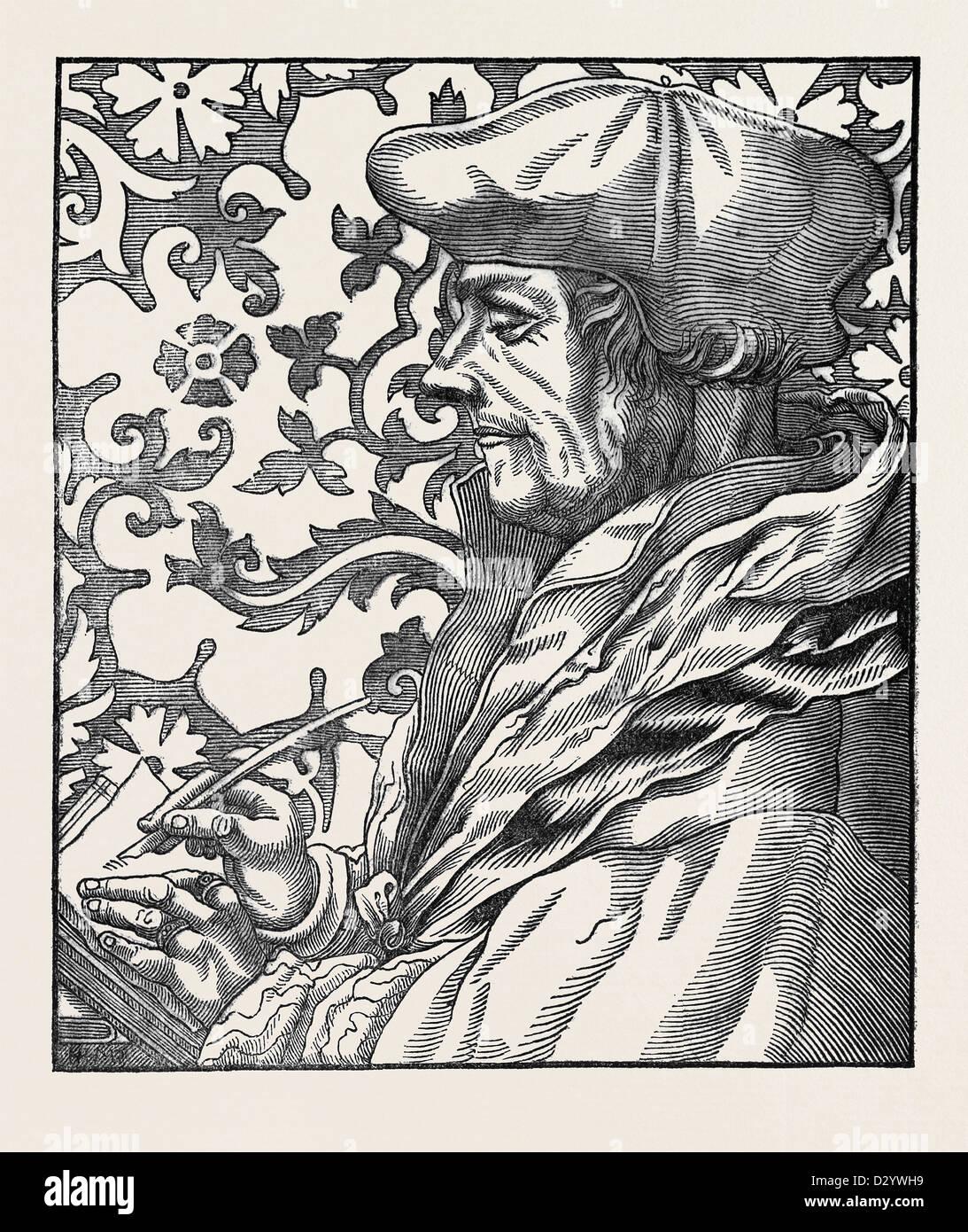 ERASMUS AFTER HOLBEIN. - Stock Image