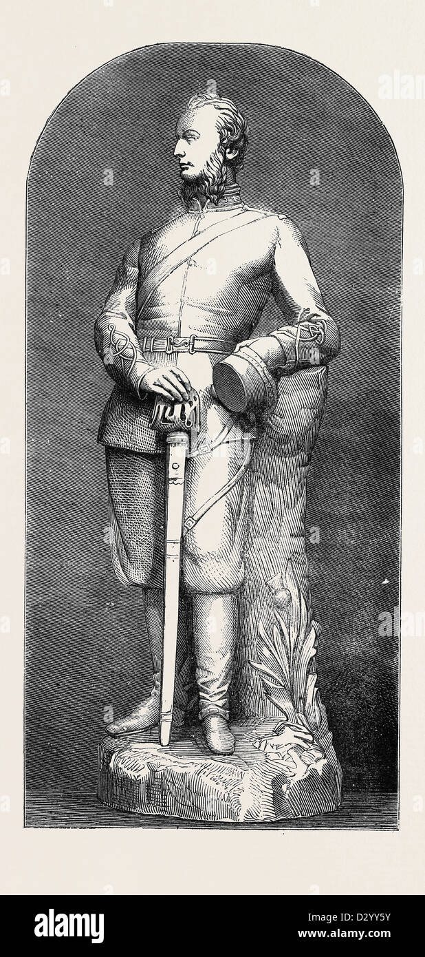 STATUETTE OF LORD ELCHO - Stock Image