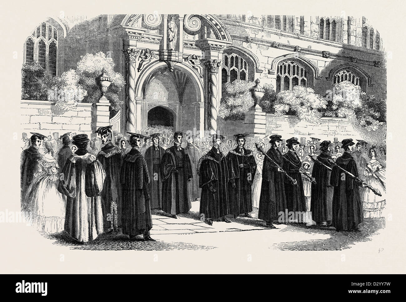 THE PROCESSION FROM ST. MARY'S. - Stock Image