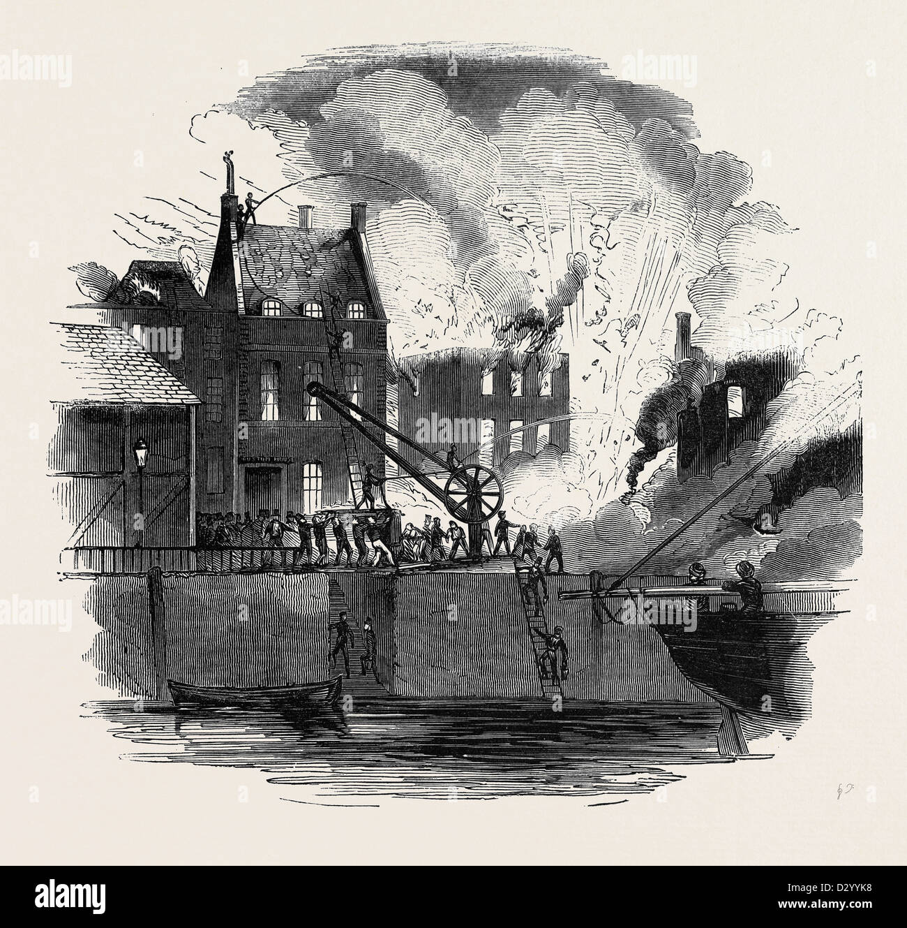 FIRE AT BOSTON, FROM A DRAWING BY MR. W. CAISTER Stock Photo