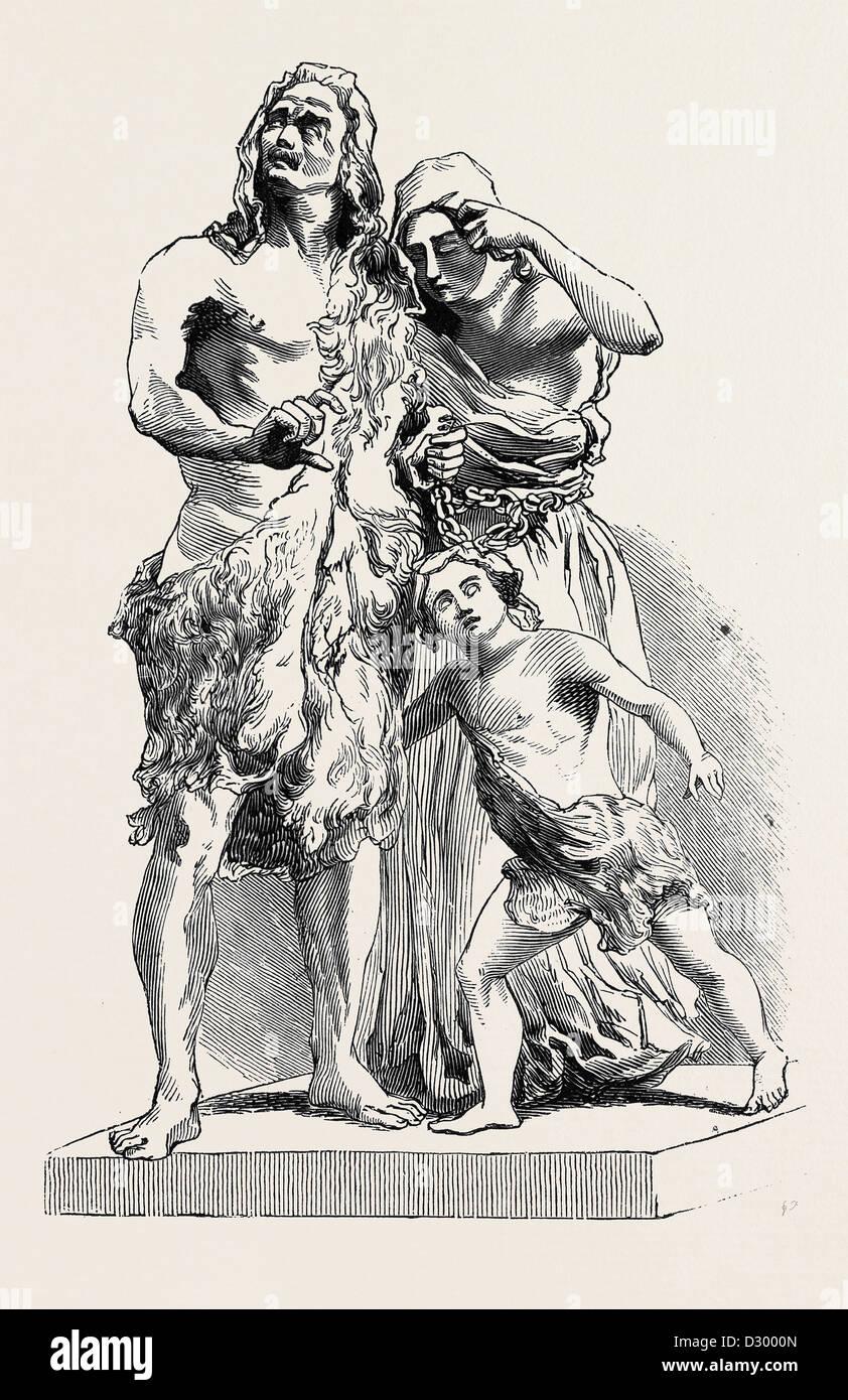 CARACTACUS BEFORE CLAUDIUS CAESAR - Stock Image