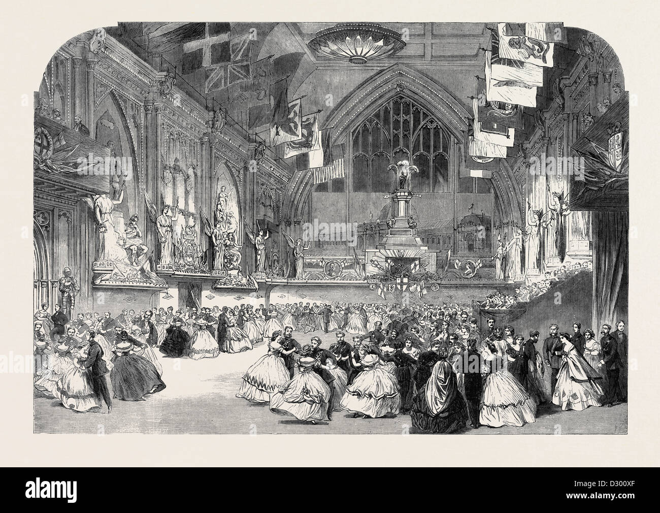 THE LONDON RIFLE BRIGADE BALL AT GUILDHALL - Stock Image