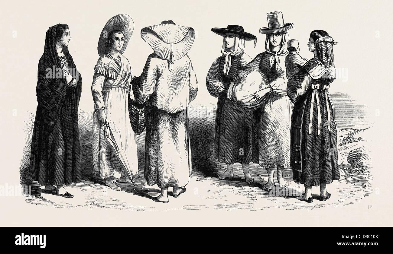 TYPES OF TUSCAN PEASANT WOMEN - Stock Image