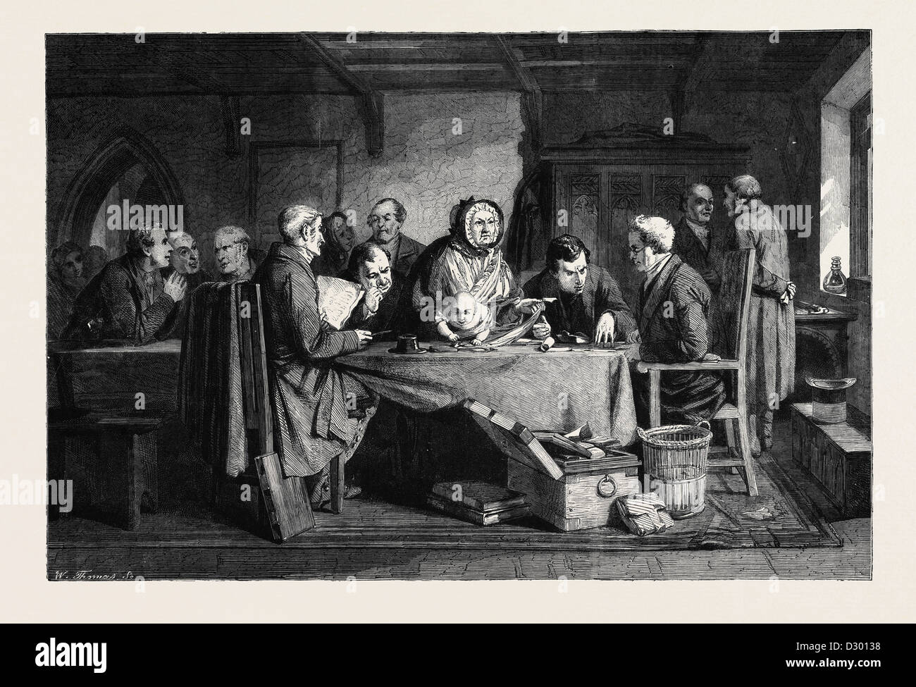 THE FOUNDLING BY G.B. O'NEILL IN THE NATIONAL GALLERY SOUTH KENSINGTON MUSEUM - Stock Image