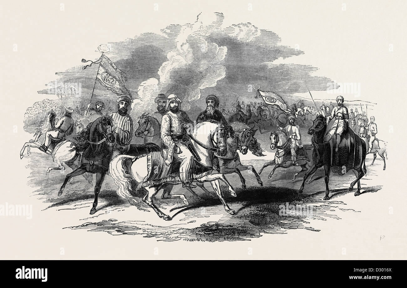 ABD-EL-KADER AND HIS MOORISH ALLIES - Stock Image